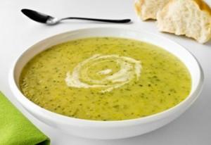 Суп-пюре из цветной капусты и кабачков