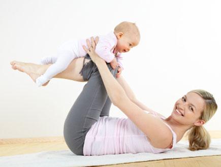 убрать живот после родов помогут диета и зарядка