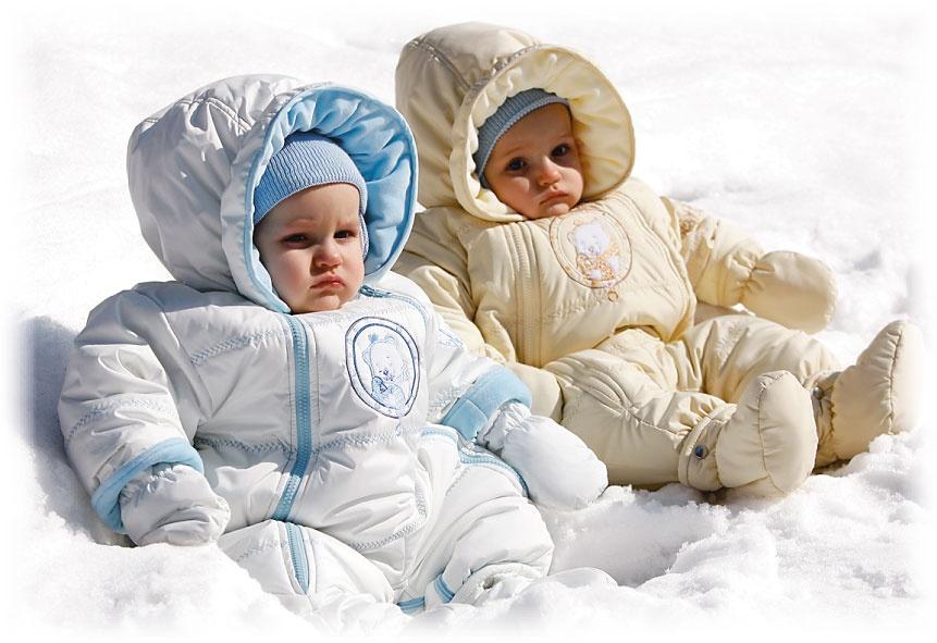 Комбинезоны для новорожденных зима