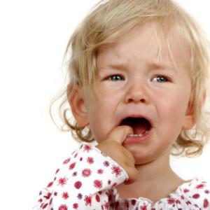 Беспокойство при прорезывании зубов